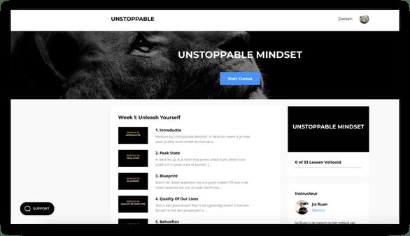 unstoppable mindset training