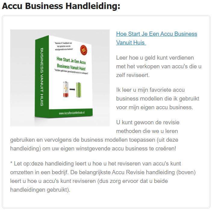 accu business handleiding