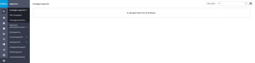 rapportage mogelijkheden mailblue