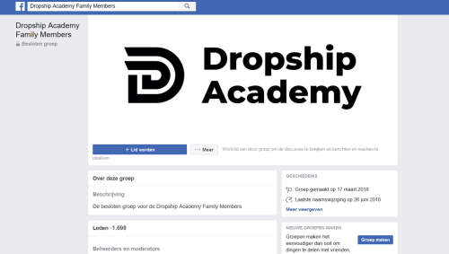 facebook dropshipping community