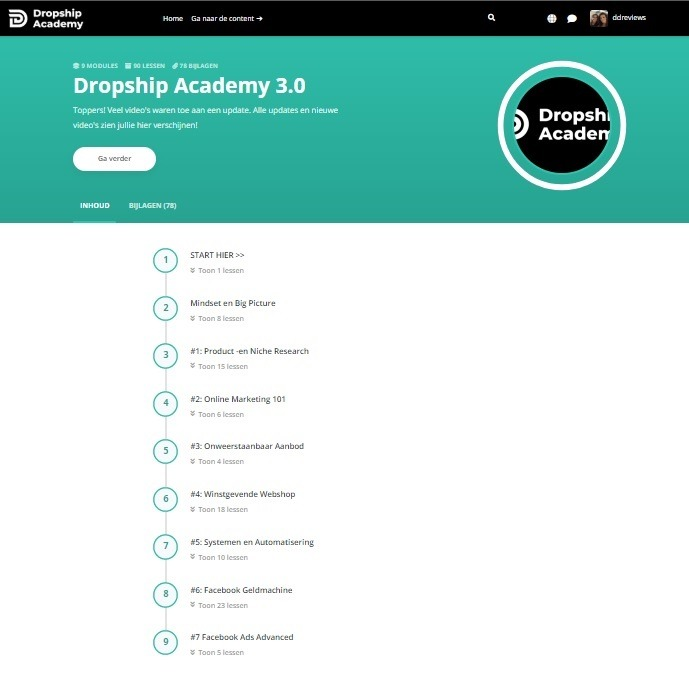 dropship academy 3.0 review