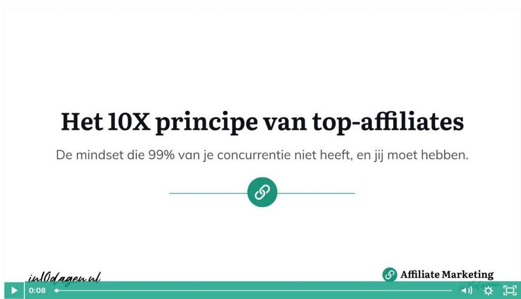 Het 10X principe van top-affiliates