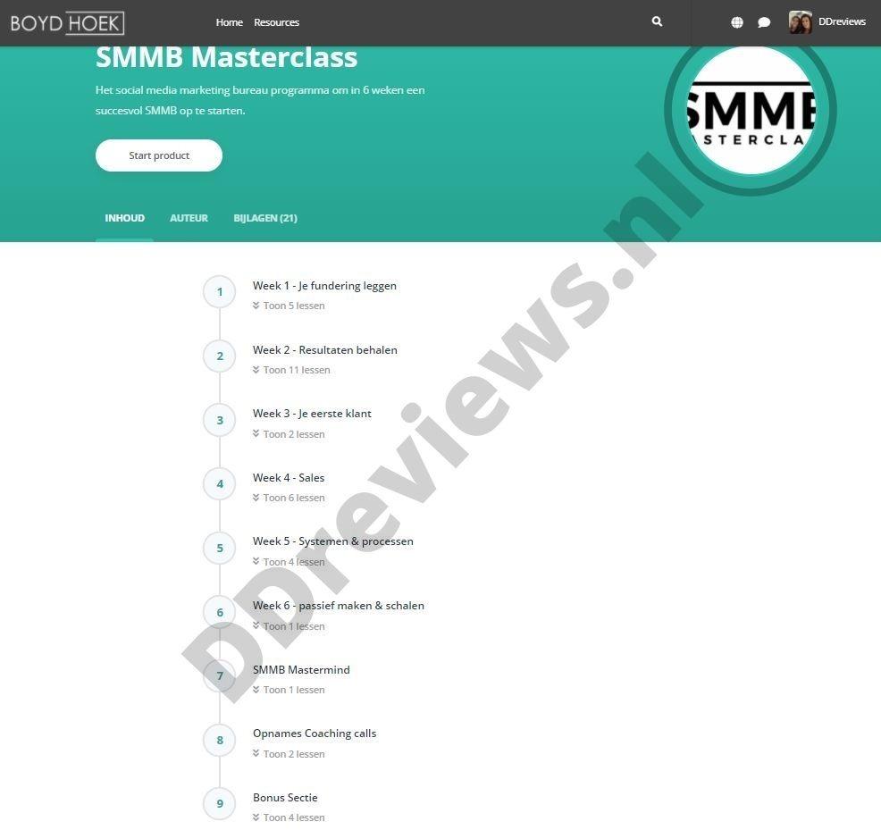SMMB Massterclass modules