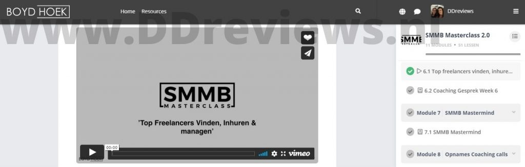 module 6 smmb masterclass.