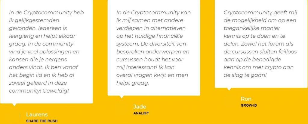 CryptoCommunity ervaringen