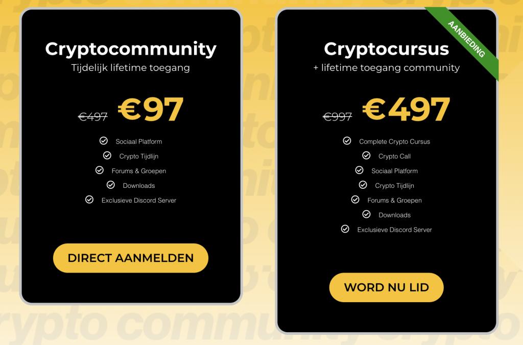 CryptoCommunity kosten