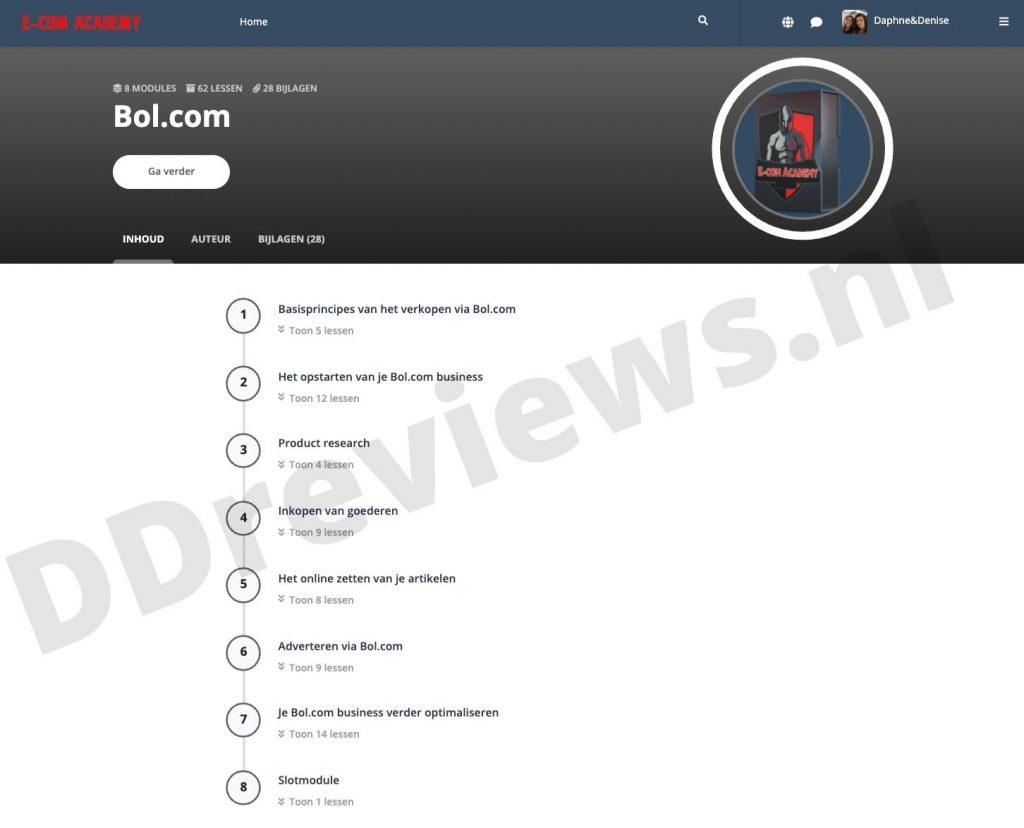 bol.com cursusoverzicht