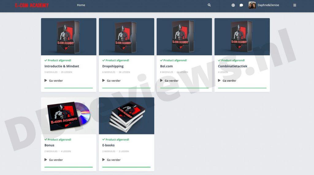 e-com academy cursus overzicht