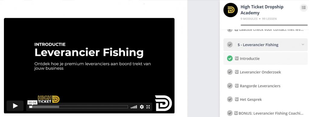Leverancier Fishing