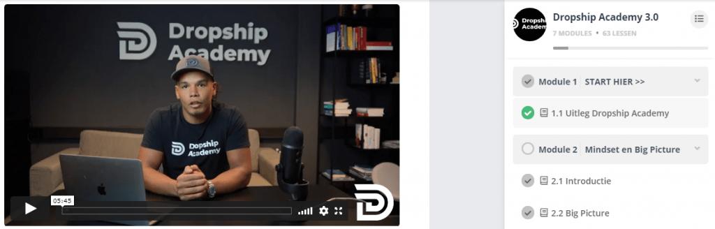 Dropship Academy module start hier