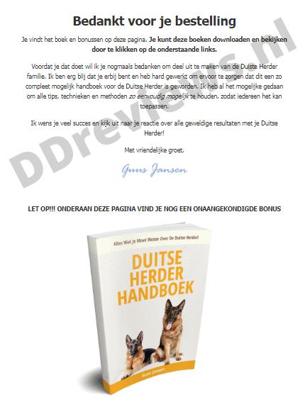 duitse herder handboek bestelling