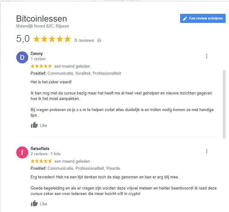 bitcoinlessen ervaring