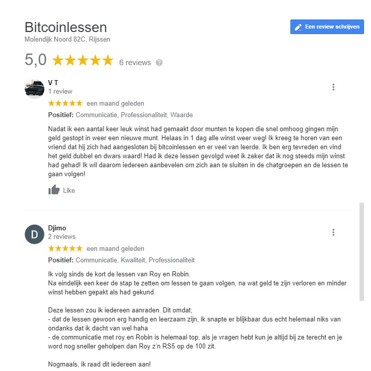bitcoinlessen ervaringen