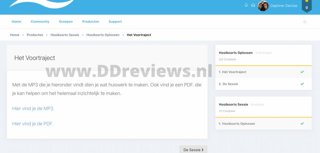 Hooikoortssessie review