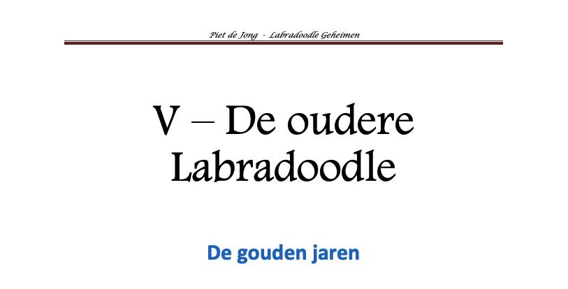 Labradoodle Geheimen handboek hoofdstuk 5