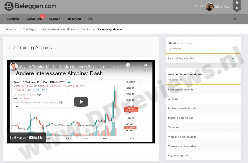 Live training altcoins X10