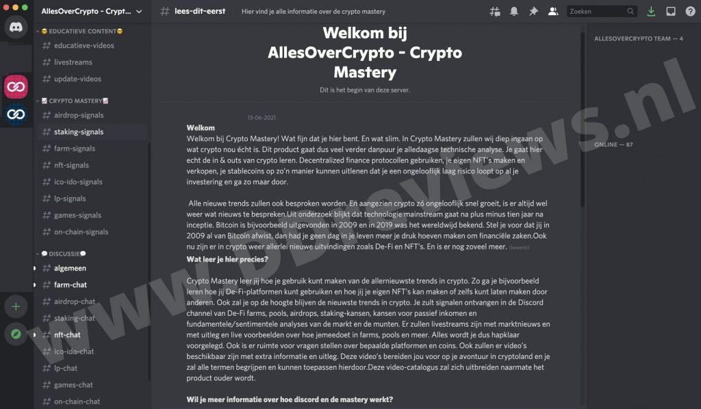 crypto mastery discord
